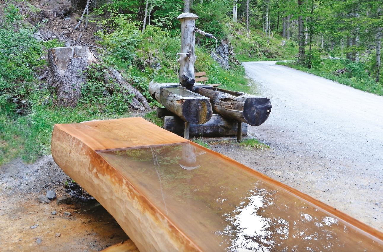 Ein XXL-Brunnentrog für den Flimser Grosswald